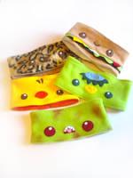 Decorated Fleecy Headbands by kickass-peanut