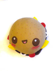 Cheese+Tomato Burger Plush by kickass-peanut