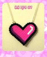Pixel Heart Necklace by kickass-peanut
