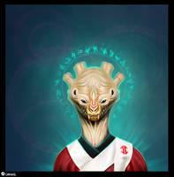 Alien Priest by carny87