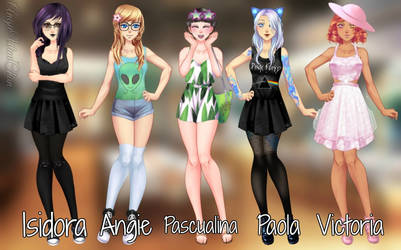 A Tale of Five Girls: 5 year later by AngieUtauChan