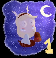 (Advent Calendar) Day 1: Reindeer by AngieUtauChan