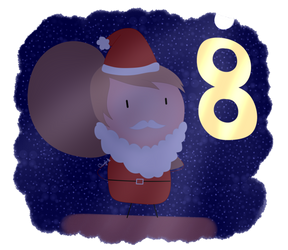 (Advent Calendar) Day 8: Santa Claus by AngieUtauChan
