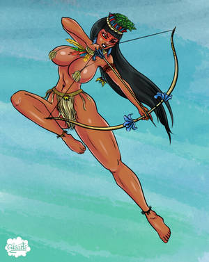 Jungle Huntress by Gisarts