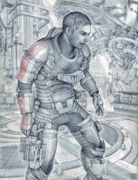 Isaac in N7 Armor by Lei-Ren