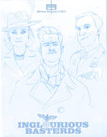 Inglourious Basterds Sketches by MichaelSchauss