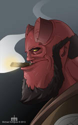 Hellboy by MichaelSchauss