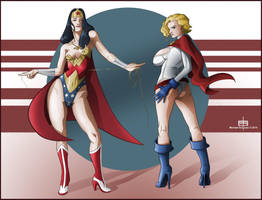 Double Trinquette Power GirlWonder Woman by MichaelSchauss