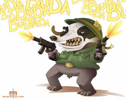 Badger does not care about peace. by MichaelSchauss