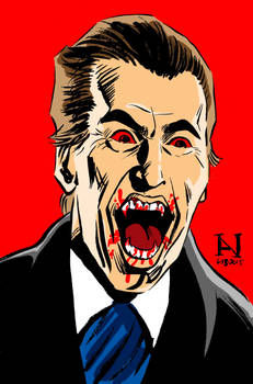 Christopher Lee as Dracula by IanJMiller