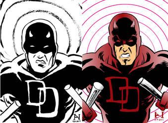 Daredevil, Then vs. Now by IanJMiller