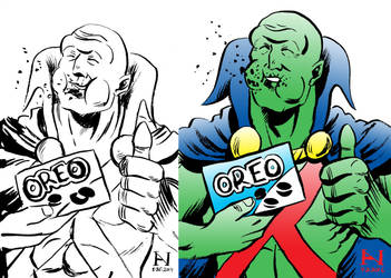 Martian Manhunter, Then vs. Now by IanJMiller