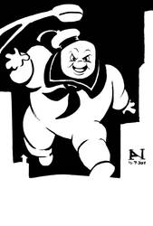 Stay Puft Marshmallow Man by IanJMiller