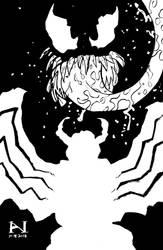 Inktober Day 18 - Venom by IanJMiller