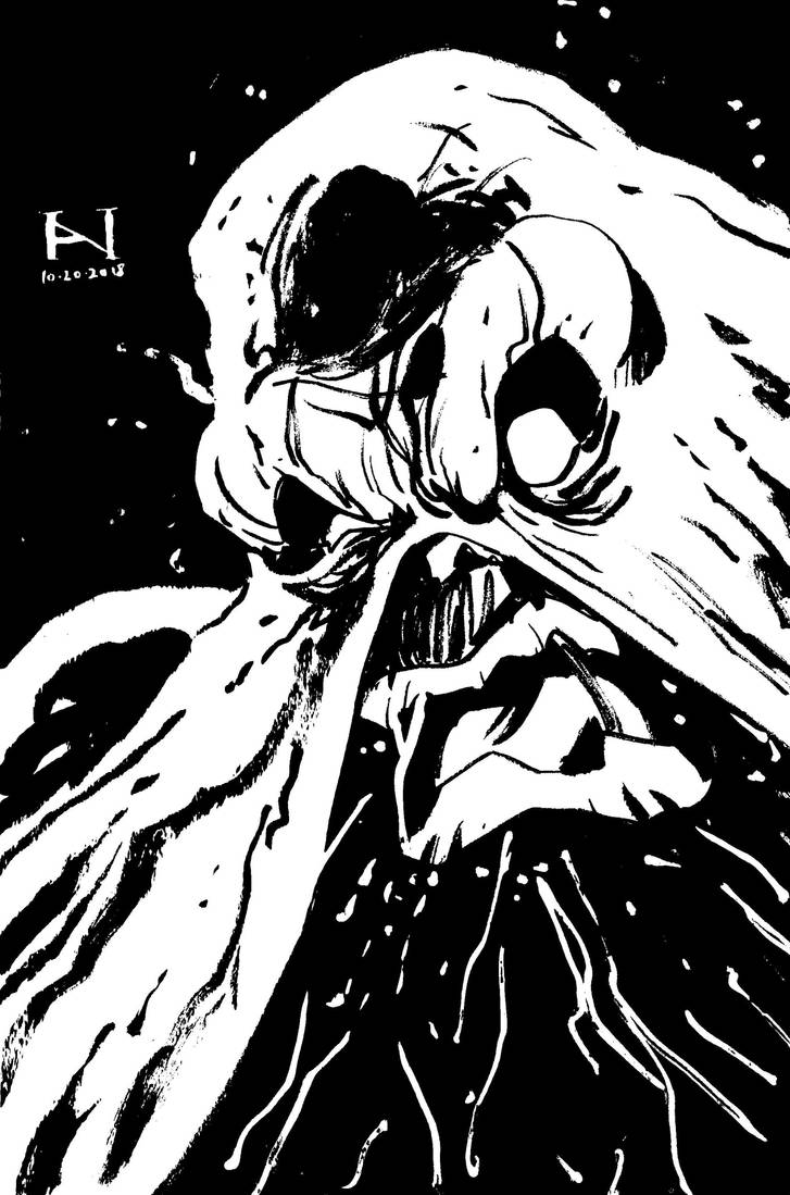 Inktober Day 20 - Swamp Thing by IanJMiller