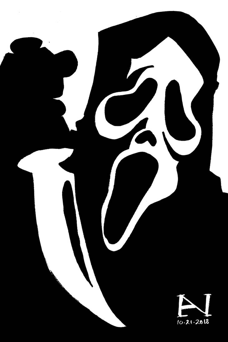Inktober Day 21 - Ghostface by IanJMiller