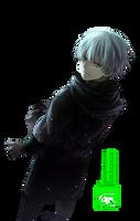 Kaneki Ken (Tokyo Ghoul) - Render by azizkeybackspace