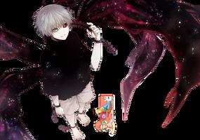 Ken Kaneki (Tokyo Ghoul) - Render v1 by azizkeybackspace