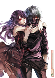Kaneki Rize (Tokyo Ghoul) - Render by azizkeybackspace
