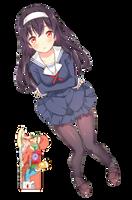Utaha Kasumigaoka (Saekano) - Render by azizkeybackspace