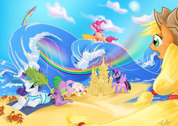 March is Beach Fun by DawnAllies