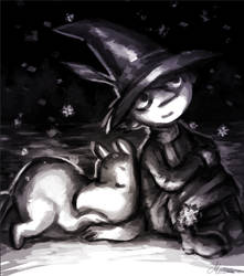 Moomin and Snufkin by Meanira