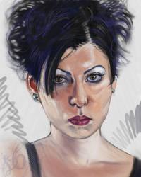Self Portrait 7-4-08 by linranae