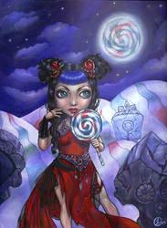 Lollipop Moon by linranae