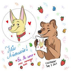 Happy Birthday Strawberry by Straw-Bear