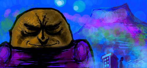 Sontaran And The Timelord by mickmoart