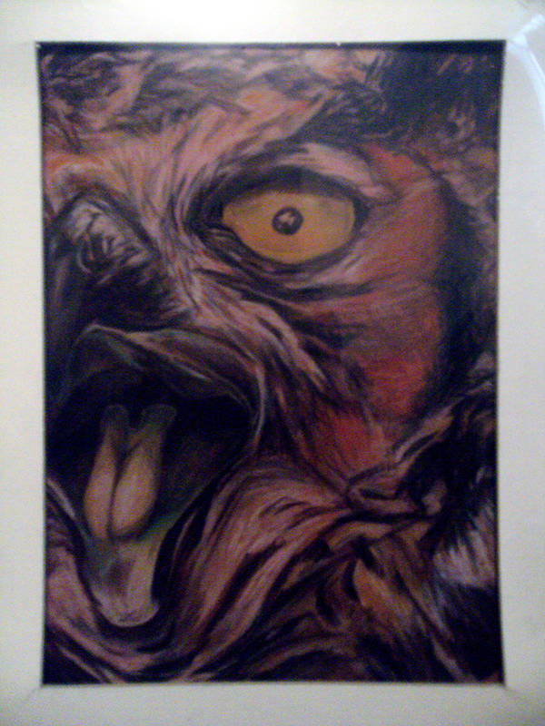 RED OWL [1991 ART] by mickmoart