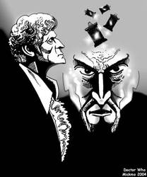 3rd Doctor With Master by mickmoart
