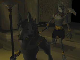 Guardians of Anubis by Ojjinx