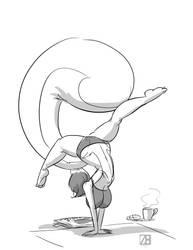 Morning Stretch by ZaftigBunnyPress