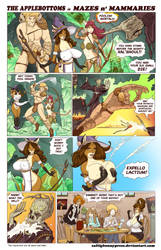 THE APPLEBOTTOMS  in... MAZES n MAMMARIES by ZaftigBunnyPress