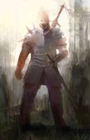 warrior sketch by digital404