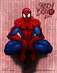 Spider on the Wall by SketchBravo