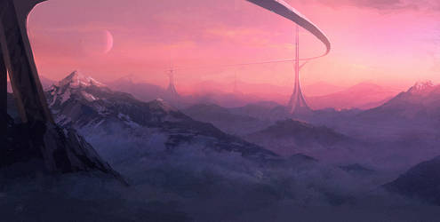 Speed paint - magrail towers by ANTIFAN-REAL
