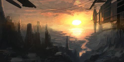 Speedpaint - rough landscape by ANTIFAN-REAL