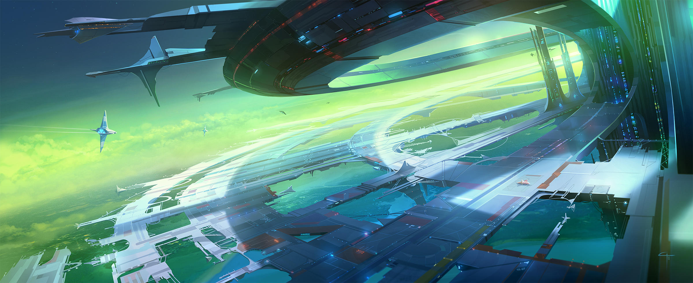Interplanetary Port by ANTIFAN-REAL