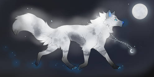 [CLOSED] ADOPTABLE - GLOWING WOLF #3 by AthenaAdopts
