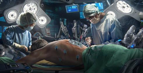 Neuromancer: Case's Surgery by NiekSchlosser