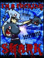 I'M A SHARK HUAAAAAGH by Bosshamster