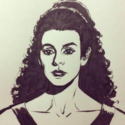 Inktober 2016 Day 22: Deanna Troi by Bondagedean