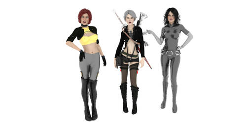 The CyberWitcher Girls!... by MorgueRBB