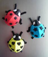 Ladybug magnets by VeoBea