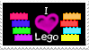 I :heart: Lego Stamp by ladyshaniique08
