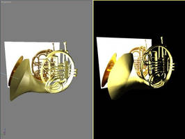 French Horn Render by CrimsonStrife