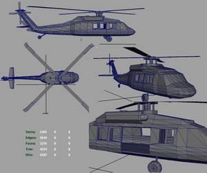 3D BlackHawk Helicopter by CrimsonStrife