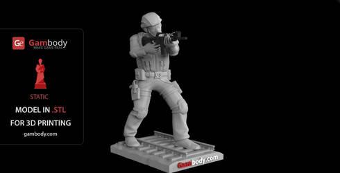 Counter-Strike Terrorist 3D Print Design by Gambody